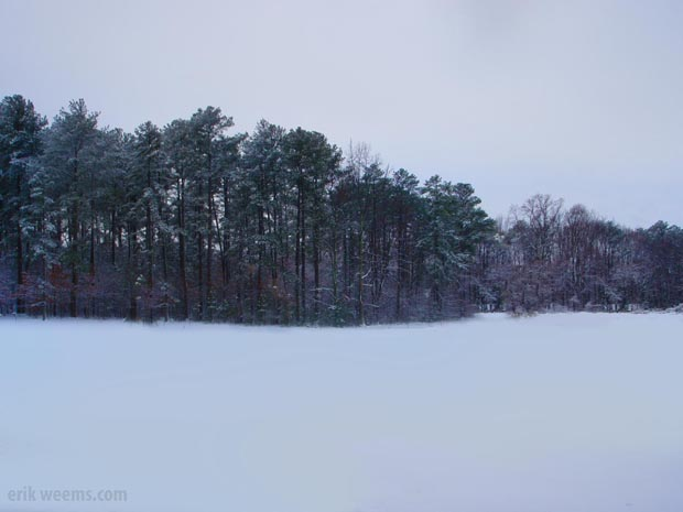 Snow in Richmond Virginia