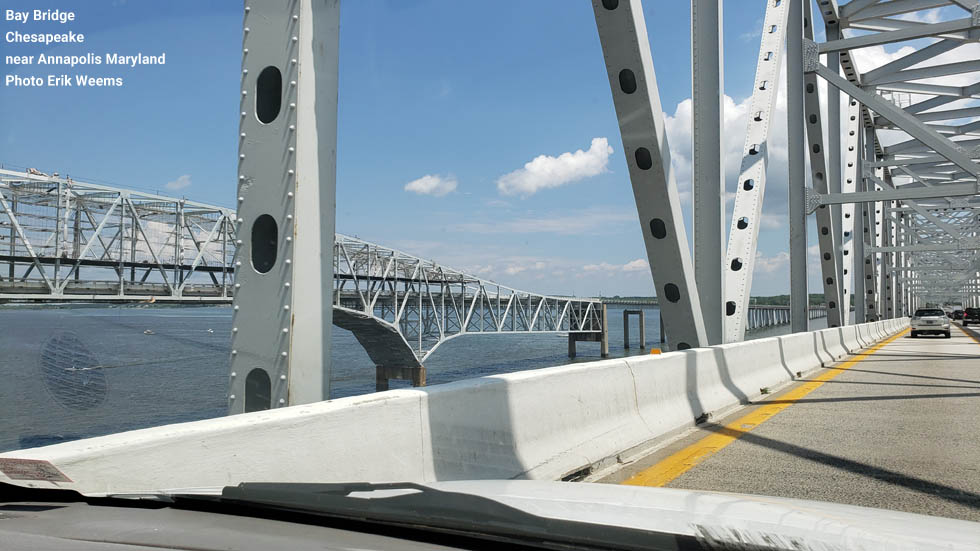 Bay Bridge - over Chesapeake in Maryland - photo Erik Weems